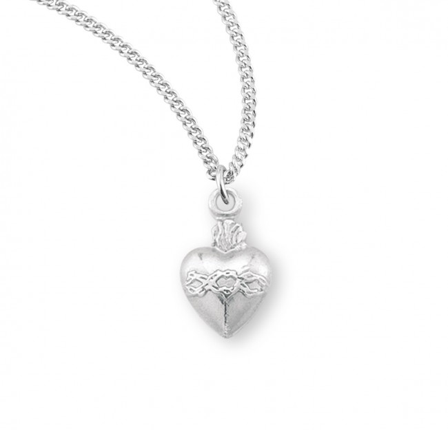 Secret Heart Sterling Silver Necklace and Earrings Set