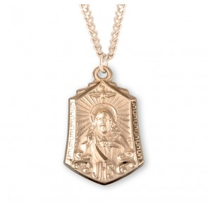 Gold Over Sterling Silver Scapular Medal