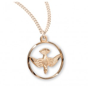Holy Spirit Gold Over Sterling Silver Medal