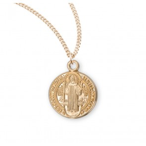 Saint Benedict Round Jubilee Gold Over Sterling Silver Medal