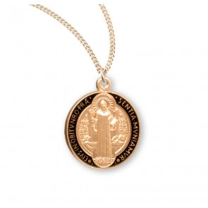 Saint Benedict Jubilee Gold Over Sterling Silver Medal