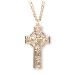 Gold Over Sterling Silver Irish Celtic cross