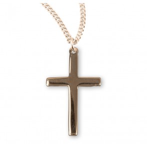 Gold Over Sterling Silver High Polished Cross