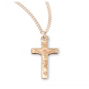 Gold Over Sterling Silver Basic Crucifix
