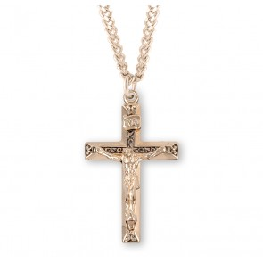 Gold Over Sterling Silver High Polished Crucifix