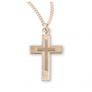 Gold Over Sterling Silver Cross