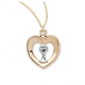 Tu-tone Gold Over Sterling Silver Heart