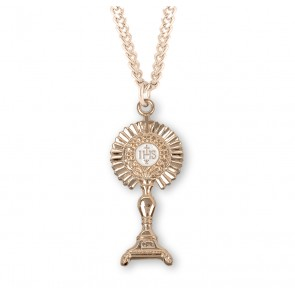 Gold Over Sterling Silver Monstrance Pendant