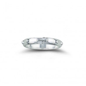 Sterling Silver Rosary Ring Size 6
