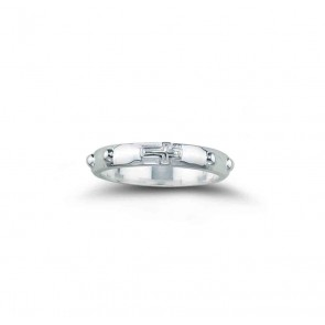 Sterling Silver Rosary Ring Size 7