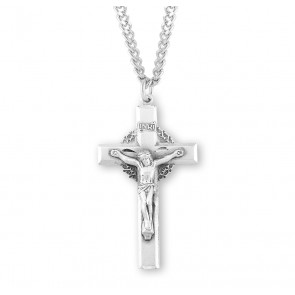 Sterling Silver Crown of Thorns Crucifix