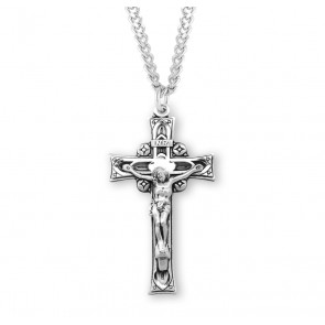Sterling Silver Deep Relief Crucifix