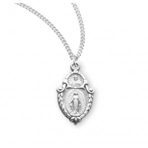Sterling Silver  Miraculous Medal Scapular Combination