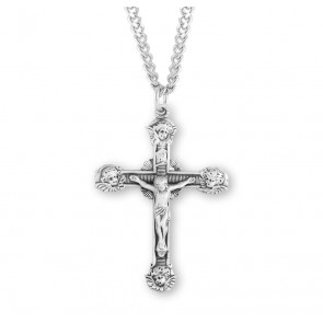 Angel Tipped  Sterling Silver Crucifix