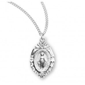 "Sterling Silver 1"" Miraculous Medal"