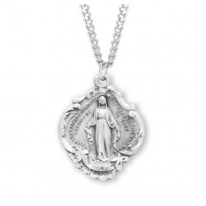 Sterling Silver Baroque Style Miraculous Medal