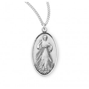 Divine Mercy/Saint Faustina Sterling Silver Medal