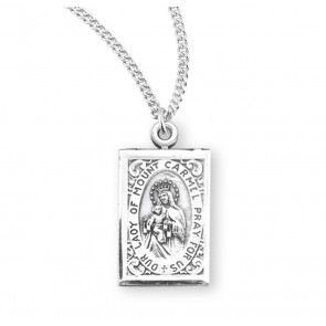 Our Lady of Mount Carmel Sterling Silver Scapular Medal