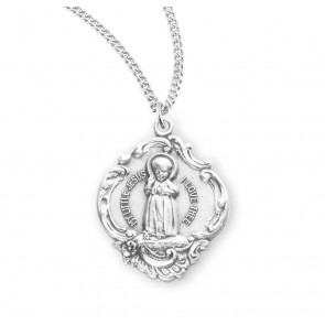 Infant Jesus Sterling Silver Medal