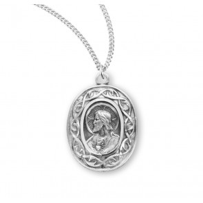 """Crown of Thorns"" Sterling Silver Scapular Medal"