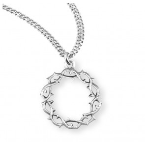 """Crown of Thorns"" Sterling Silver Medal"
