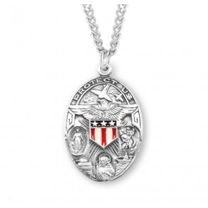 CURRENTLY UNAVAILABLE PLEASE CHECK BACK SOON Sterling Silver Oval Military Medal
