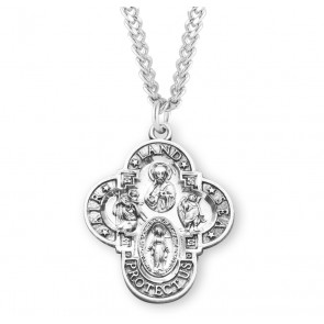Land-Sea-Air Sterling Silver 4-way Medal