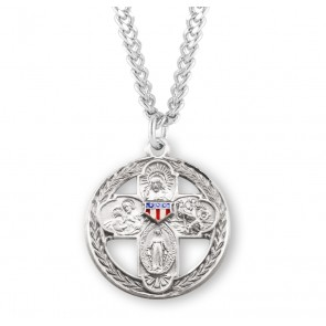 Sterling Silver Enameled Military 4-Way