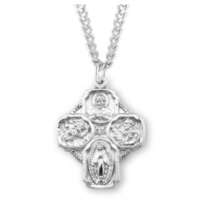 Sterling Silver 4-Way Medal