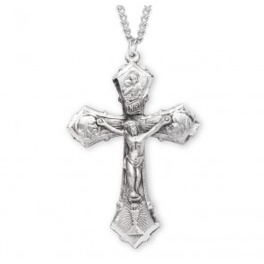 Jesus-Mary-Joseph Sterling Silver Crucifix