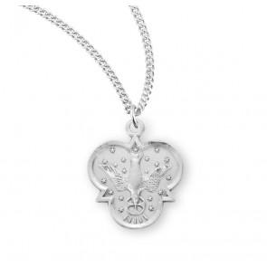 Holy Spirit Sterling Silver Trinity Symbol Medal