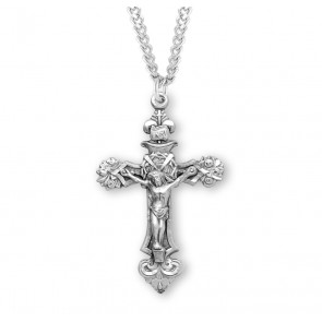 "1 13/16"" Sterling Silver ""Tools of the Crucifixion"" Cross with 24"" Chain"