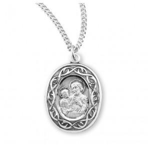 "Saint Joseph ""Crown of Thorns"" Oval Medal"