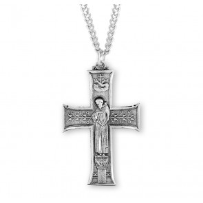 Saint Francis Sterling Silver Cross