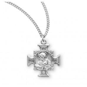 Saint Francis of Assisi  Sterling Silver Maltese Cross Medal