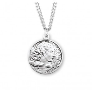 Saint Michael Round Sterling Silver Medal