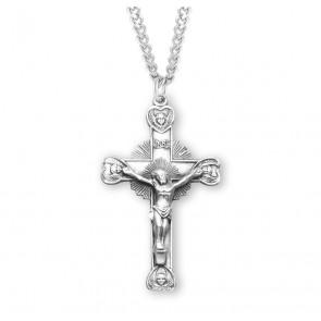 Cherub Design Sterling Silver Crucifix