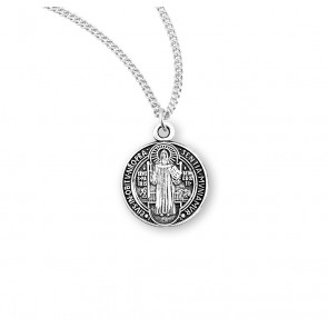 Saint Benedict Round Jubilee Sterling Silver Medal