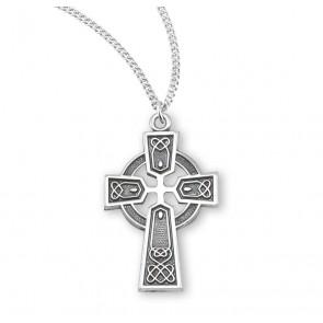 Sterling Silver Irish Celtic cross Pendant