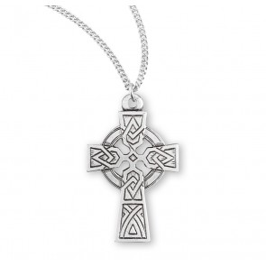Irish Celtic Cross Sterling Silver Pendant