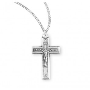 Engraved Sterling Silver Crucifix