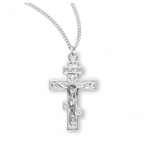 Byzantine Sterling Silver Crucifix