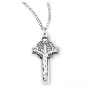 Saint Benedict Jubilee Sterling Silver Medal/Crucifix