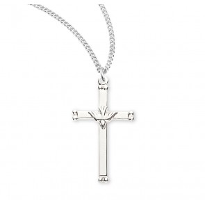"1 1/8"" Sterling Silver Holy Spirit Crucifix with 18"" Chain"