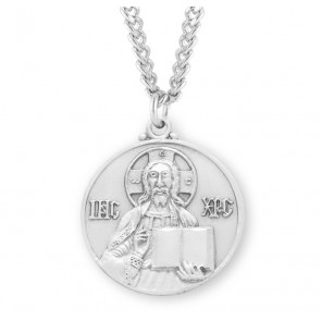 Christ the Teacher Round Sterling Silver Medal