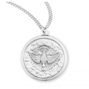 Holy Spirit Round Sterling Silver Medal