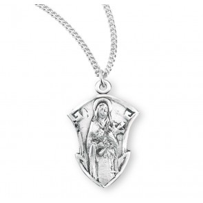 Saint Therese of Lisieux Sterling Silver Medal