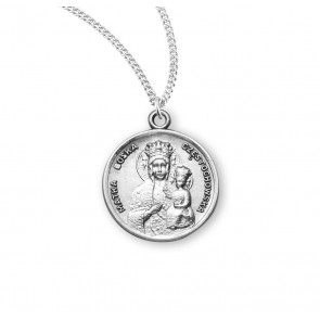 Our Lady of Czestochowa Round Sterling Silver Medal