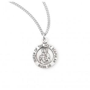 Sterling Silver Holy Scapular Medal