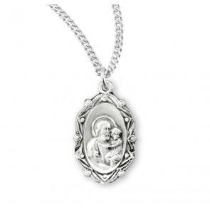 Saint Joseph Oval Sterling Silver Medal